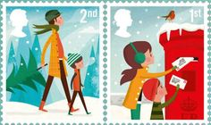 Royal Mail Christmas stamps designed by illustrator Andrew ...