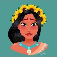Rocio's Belen Ferreiro Art Princess-Beauty-Case Disney Pocahontas