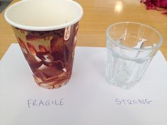 WEEK 2 : The theme of my comparison is the difficulty to apprehend what is fragile. I would like to make a comparison to show how much something fragile as glass can be strong if we compare to something unsustainable as paper.