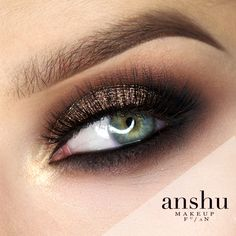Makeup Geek Eyeshadow in Americano, Corrupt, Tan Lines and Magic Act. Look by: Anshu.