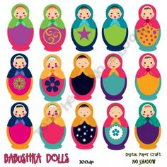 Babushka Dolls Clipart product from Digital-PaperCraft on TeachersNotebook.com