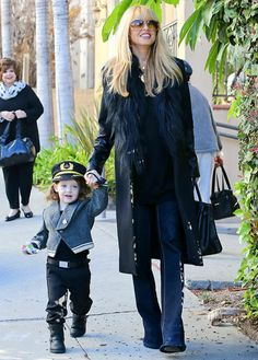 Rachel Zoe held hands with son Skyler — dressed as a pilot — as they headed to a kids' Halloween bash.