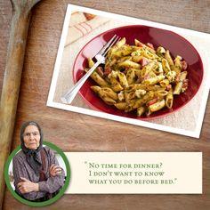 Prepare a delicious, last minute dish with this No-Time Pesto Pasta. #Athenos #Feta