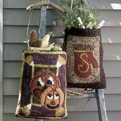 Seasonal Patterns for Rug Hooking Patterns from Folk 'n' Fiber | Seasonal and Gifts