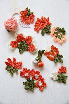 oya crochet motif Freeform Crochet, Irish Crochet, Crochet Motif, Crochet Stitches, Knit Crochet, Crochet Patterns, Yarn Flowers, Crochet Flowers, Fabric Birds