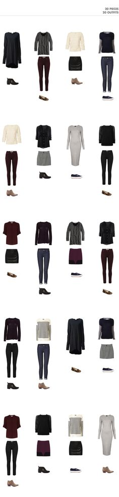 20 outfits with 20 pieces-fall