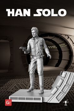 This Star Wars character's past is a mystery even for his dearest and nearest. But now he's universally known to be the best at what he does - driving and flying. A Corellian, participant in the Rebellion against the Galactic Empire and the pilot of the Millennium Falcon - Han Solo! #3dprintingmodel #STLmodel #STLfile #solo #starwars