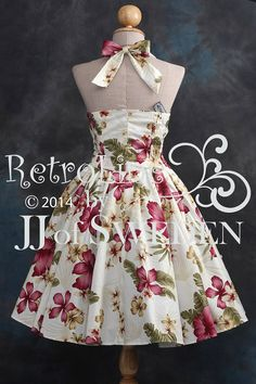Retro dress flower patterned. Designed handmade 50's by JJofSweden