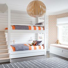 A little Before & After magic. Custom built-in bunk beds from #RumsonNewModern @raquellangworthy.photo