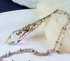 New Swarovski Clear/AB Finish Crystal by HisJewelsCreations, $32.00