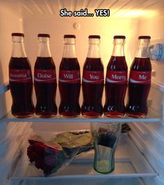Coke proposal <3 ... This is the BEST proposal EVER!