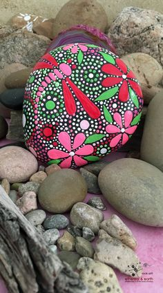 Dragonfly Art on Hand Painted Stone, Painted Stone, Rock Art, Hand Painted Rock, Dragonfly Motif - $36 - Free Shipping in the USA!
