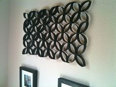 Toilet paper roll crafts are great and fun recycling projects that you can work with your kids. Sometimes, these crafts are so beautiful that can exceed Cute Crafts, Crafts To Do, Arts And Crafts, Paper Crafts, Diy Crafts, Paper Paper, Diy Wall Art, Diy Art, Wall Decor