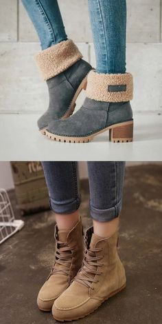 15 Awesome Winter Boots 2018 That Look Warm And Comfort - Fazhion Fall Winter Outfits, Winter Wear, Autumn Winter Fashion, Looks Style, My Style, Hijab Style, Cute Boots, Grey Boots, Mode Inspiration