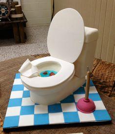 Toilet cake - Groom's cake for a plumber.