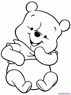 baby pooh coloring pages
