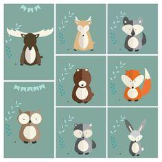 Darmowe plakaty do druku leśne zwierzątka #plakatydladzieci