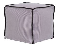 """Oxford 17"""" Square Corded Beads Hassocks Ottoman"""