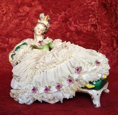 Vintage Dresden Porcelain Figurine