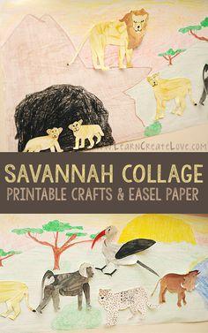 African Savannah Collage