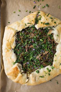 Mushroom Spring  Galette [MAY FEATURED RECIPE]