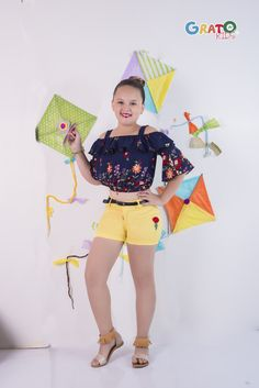 Outfits Niños, Kids Outfits, Justice Clothing, Kids Tops, Cute Kids Fashion, Girls Blouse, Fashion Catalogue, Hot Pants, Look