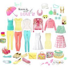 Great Type 1 basic wardrobe to mix & match! By bonnydianne on polyvore. Love it!