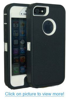 Iphone 5 Body Armor Defender Case Comparable to Otterbox Defender Series Black on White + Save the Ta Tas Silicone Bracelet and Cube Charger #Iphone #Body #Armor #Defender #Case #Comparable #Otterbox #Series #Black #White #Save #Ta #Tas #Silicone #Bracelet #Cube #Charger