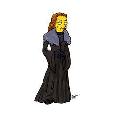 Game of Thrones in Simpsons style : Catelyn Stark Catelyn Stark, Khal Drogo, Game Of Thrones Art, Game Of Thrones Characters, Game Of Thrones Personajes, Jon Snow, Simpson Tv, Daenerys Targaryen, Simpsons Drawings
