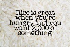 Mitch Hedberg on rice.