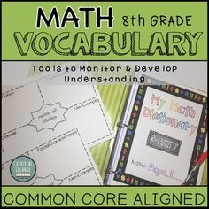 This resource contains tools to monitor, develop, and assess math vocabulary. Have your students create their own Math Dictionary or Classroom Word Wall. Monitor student progress with the Teacher Checklist and Rubric. Vocabulary is compiled based off the Common Core State Standards. Love Teacher, Teacher Tools, Math Teacher, Teacher Checklist, Student Voice, Math Vocabulary, Secondary Math, 8th Grade Math, Middle School Teachers