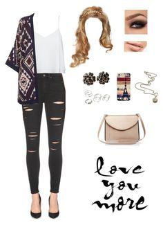 """""""Sem título #92"""" by ladybieber94 ❤ liked on Polyvore featuring Paige Denim, Alice + Olivia, Topshop, Chanel, Maybelline, Forever 21, Caso and Carven"""