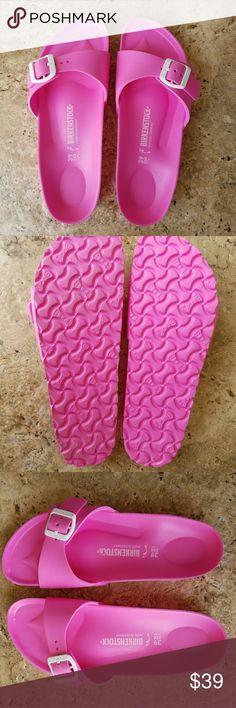 LAST ONE!!!  Pink Birkenstock Sandals Size 8 Pink EVA plastic Birkenstock sandals. Size 8. New. Great for the pool! Birkenstock  Shoes Sandals