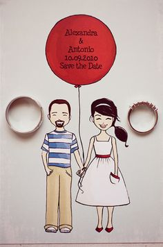This is so adorable, cartoon pics of you and your groom :)