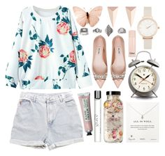 """""""Light florals"""" by rheeee ❤ liked on Polyvore featuring Topshop, Levi's, Miu Miu, Dogeared, Newgate, philosophy, Alexis Bittar, Chloé and Olivia Burton"""