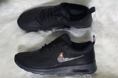Gorgeous Brand new Black Air Max Thea with by DOLLSDIVASNDIAMONDS