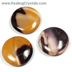Mookaite Jasper Coins (China) - Healing Crystals   Hold one of these Mookaite Jasper Coins in your hand during meditation to help with the release of old patterns that inhibit growth. Carry these Coins in your pocket when in need of an extra boost of practical intuition, as Mookaite clears the Third Eye and Solar Plexus Chakras, and aligns them with the Root Chakra. This quality can help those who are trying to work with Law of Attraction to bring higher ideals into physical reality…