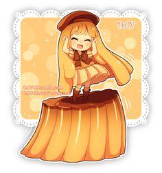 DAV-19, Sailor Collar, Dancing, Brown Hat, Bare Knees, Sweets (Personification)