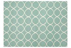 Max Flat-Weave Rug, Gray/Ivory on OneKingsLane.com