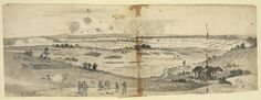 The battle of Groveton or Second Bull Run. Between the Union army commanded by Genl. Pope and the Confederate army under Genl. Robert E. Sketched from Baldface Hill, looking towards the village of Groveton] James Longstreet, Manassas Battlefield, Fort Monroe, Stonewall Jackson, Union Army, Park Service, Vintage World Maps, National Parks, War