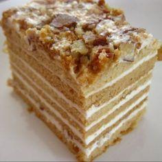 Medovnik. Tarta de miel típica de República Checa.