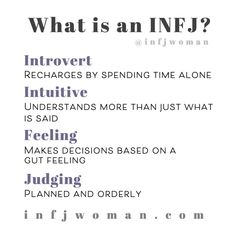 An MBTI INFJ personality type is very rare, making up only of the population. The letters mean introvert, intuitive, feeling and judging. Introvert Personality, Introvert Quotes, Myers Briggs Personality Types, Personality Psychology, Advocate Personality Type, Personality Words, Psychology Memes, Introvert Problems, Color Psychology