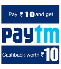 Paytm Promo code-Flat Rs 10 Cashback on Recharges and Bill Payments