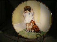 "Bessie Pease Gutmann Plate Child's Best Friend ""In Disgrace"" Hamilton 1985"