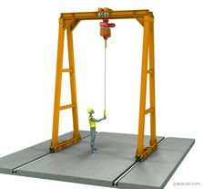 Gantry crane plans download from papacad.com Crane Drawing, Technical Documentation, Crane Design, Autodesk Inventor, Gantry Crane, 3d Cad Models, Steel Structure, Technical Drawing, Autocad