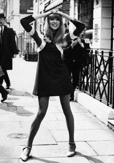 Pattie Boyd in Ossie Clark Dress, 1966