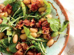 Spek en boontjieslaai Beans Salad, Good Food, Yummy Food, Kos, Food Inspiration, Bacon, Salads, Cooking Recipes, Healthy