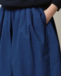 TOAST | Indigo Dot Skirt