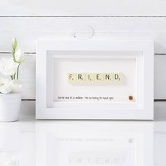 Are you interested in our Birthday Scrabble Art? With our Gifts for forty birthday scrabble art you need look no further. Presents For Best Friends, Diy Gifts For Friends, Diy Presents, Best Friend Gifts, Scrabble Frame, Scrabble Art, Scrabble Tiles, Scrabble Coasters, Scrabble Crafts