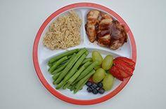 Amazon.com: Healthy Habits Kids Myplate: Kitchen & Dining